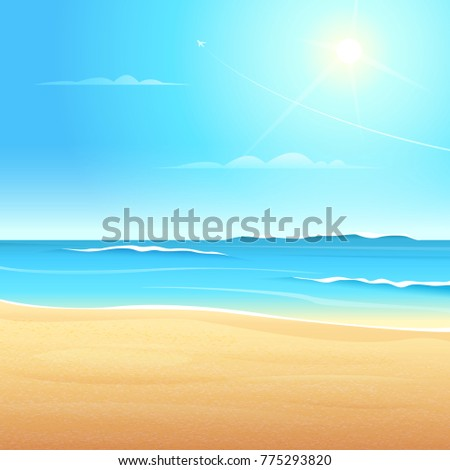 view of the sea beach with