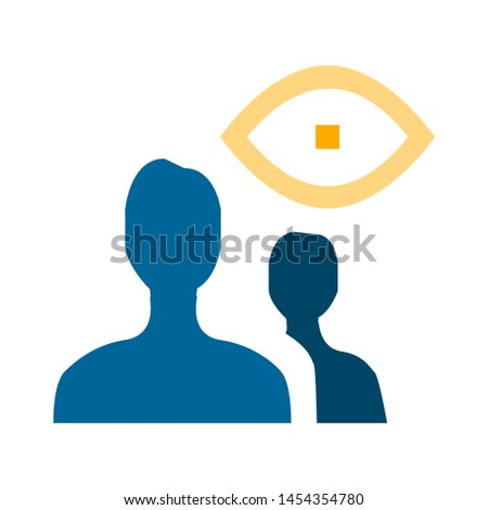 view user icon. flat illustration of view user. vector icon. view user sign symbol