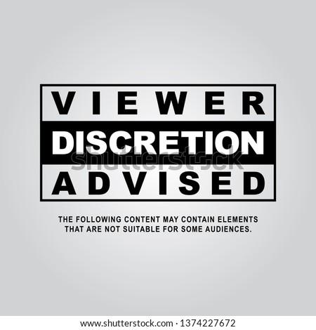 Viewer Discretion is Advised ストックフォト ©