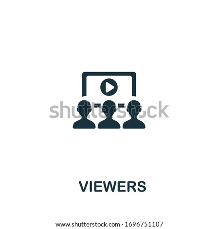 Viewers icon from streaming collection. Simple line Viewers icon for templates, web design and infographics Photo stock ©