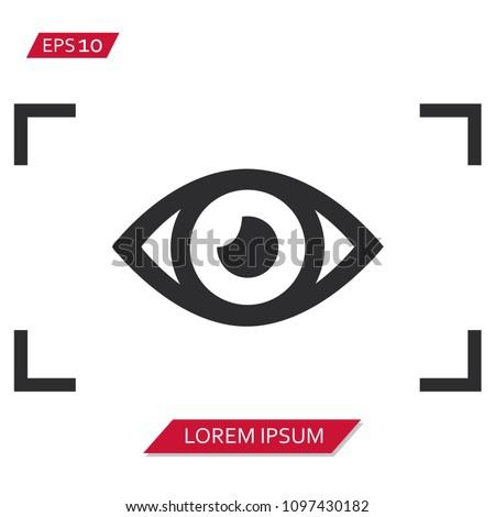 viewfinder eye vector icon symbol Stock photo ©
