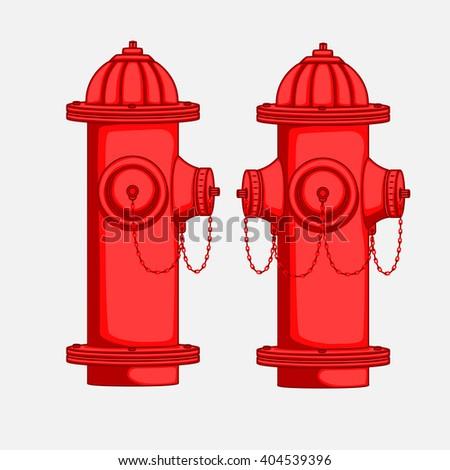 Views of Hydrant Vector Illustration