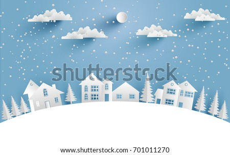 views of the house in winter