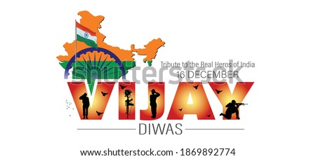 Vijay Diwas which english meaning is Victory Day. vector illustration Foto stock ©