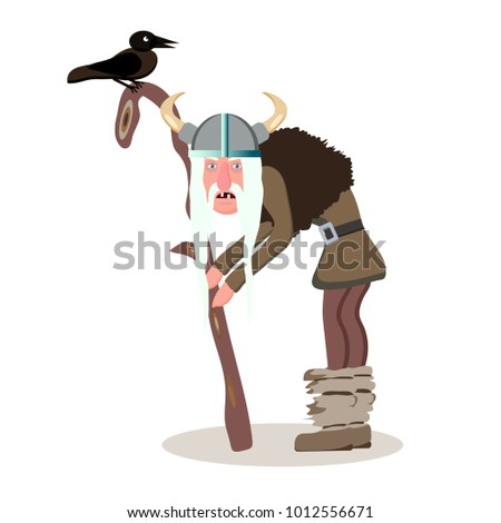viking cartoon character the