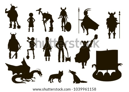 viking  characters set