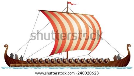viking ship  drakkar  langskip