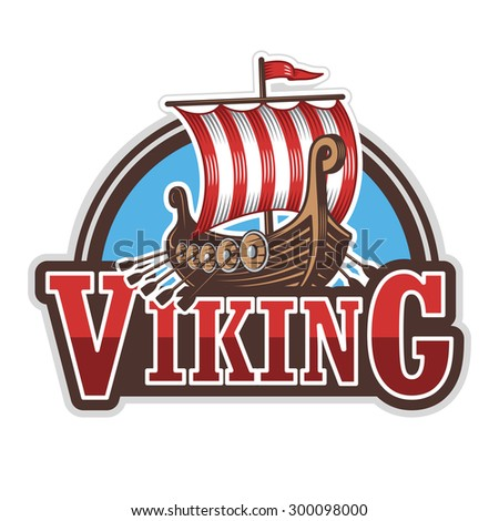 viking ship sport logo colored