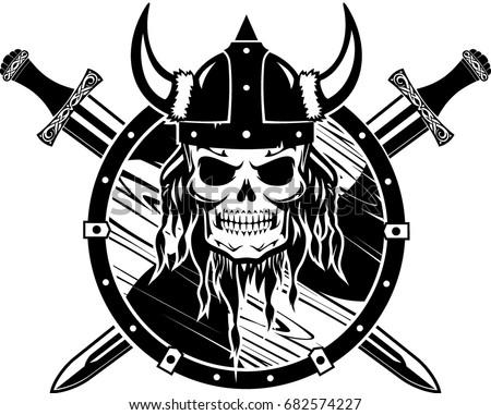 Viking Skull - Download Free Vector Art, Stock Graphics & Images