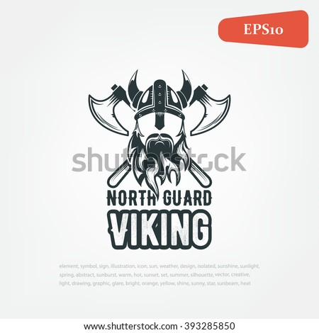 viking warrior logo  vector