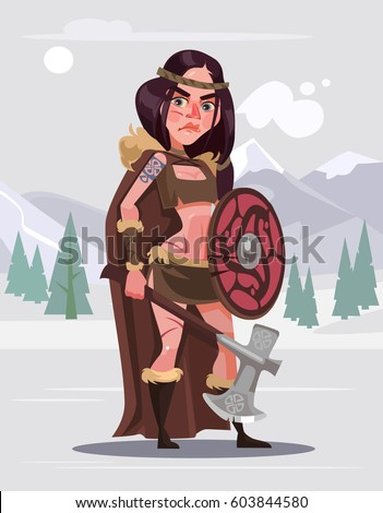 viking woman warrior character