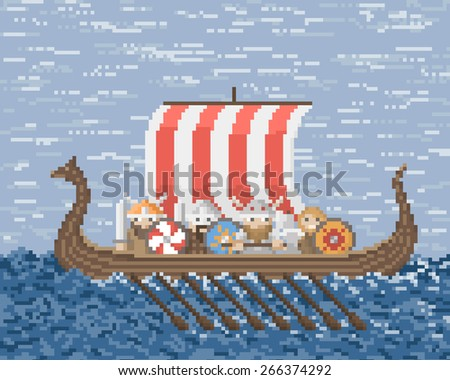 vikings sail on a ship at sea
