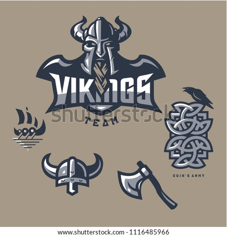 vikings team odins army mascot