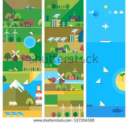 village and landscape flat