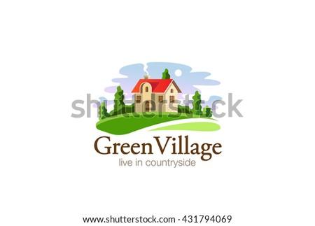 village house logo real estate