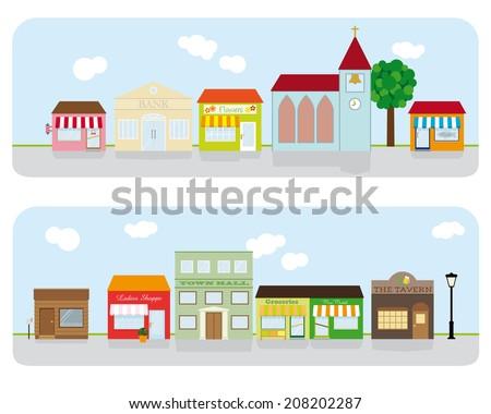 village main street...