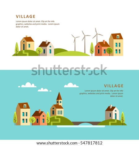 village small town rural and