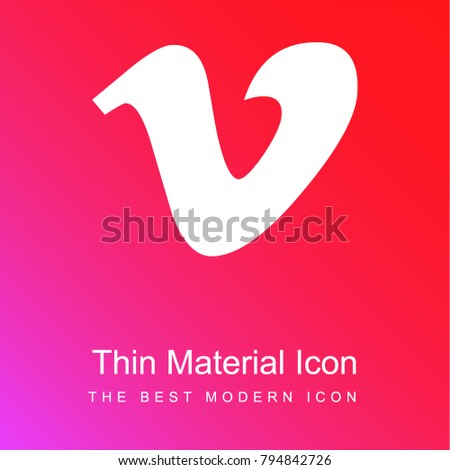 Vimeo red and pink gradient material white icon minimal design