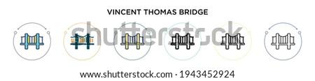 vincent thomas bridge icon in
