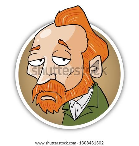 vincent van gogh caricature portrait