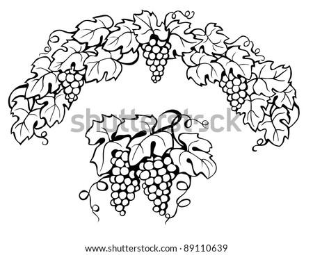 Leaves Paintings And Drawings Vine Leaves Black Painting