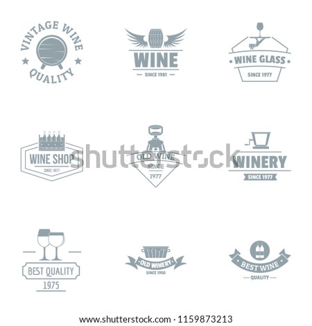 vine quality logo set simple