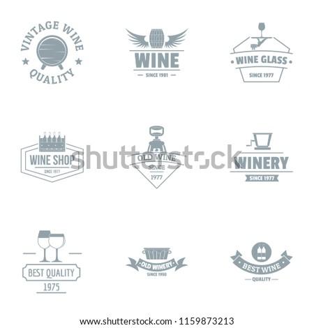 vine quality logo set simple