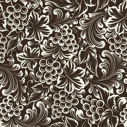 Vine seamless background. Vector illustration