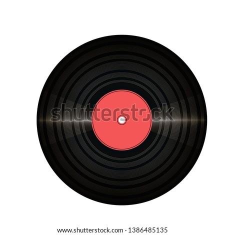 vinil record with glitter and
