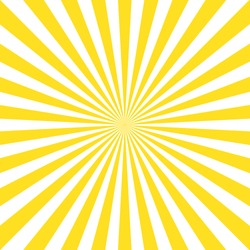 Vintage abstract template with yellow sunrays on light background. Sunlight abstract background. Starburst wallpaper. Retro bright backdrop. EPS 10