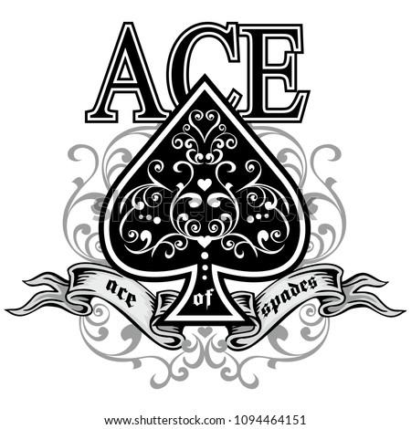 vintage ace of spades  Foto stock ©