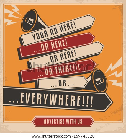 vintage ad design concept on...