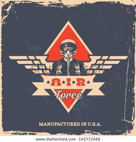 vintage air force label with