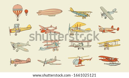 vintage aircraft vector