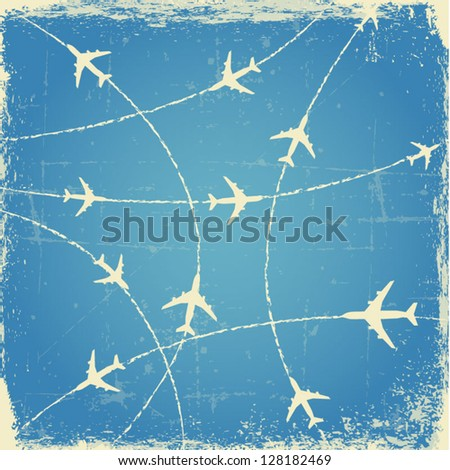 vintage airplane routes