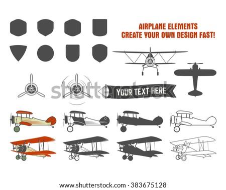 vintage airplane symbols