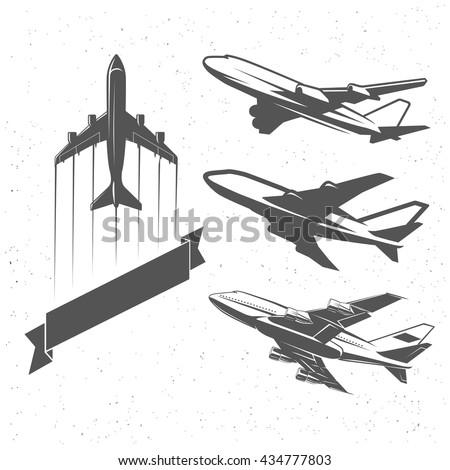 vintage airplane symbols ...