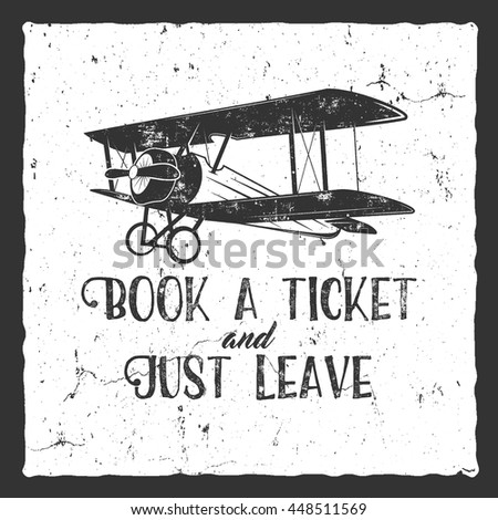 vintage airplane typography