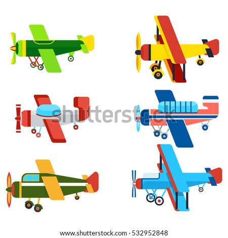 vintage airplanes cartoon
