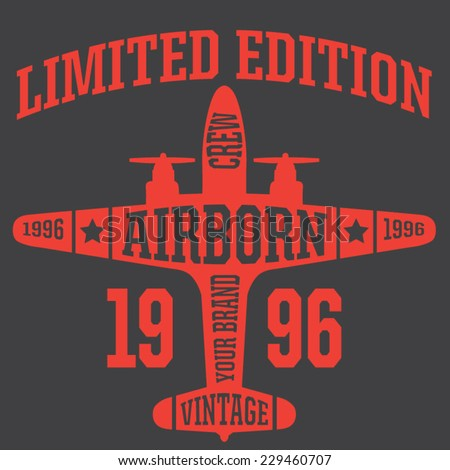 vintage airplanes typography
