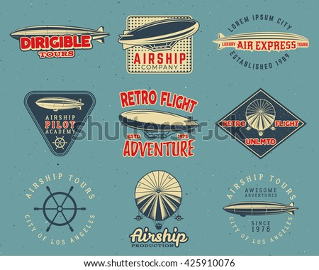 vintage airship logo designs