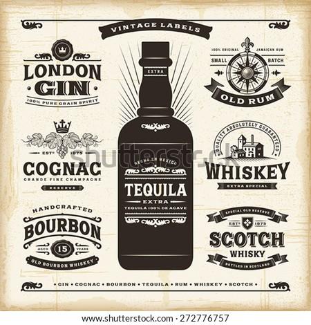 vintage alcohol labels