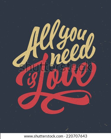 vintage 'all you need is love'