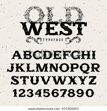 vintage alphabet in wild west...