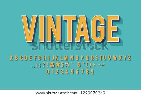 vintage alphabet vector design, classic tetter typeset