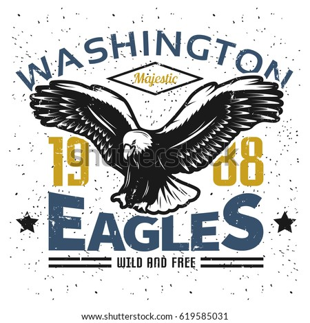 vintage american eagle logo...