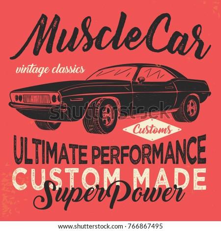 vintage american muscle car...