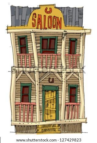 vintage american saloon  ...