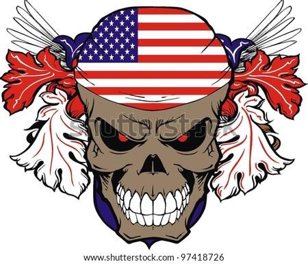 vintage american skull