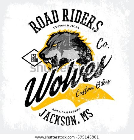 vintage american wolf bikers